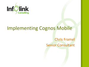 Implementing Cognos Mobile