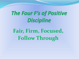 The Four F*s of Positive Discipline