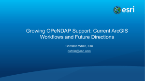 Growing OPeNDAP Support: Current ArcGIS Workflows and Future
