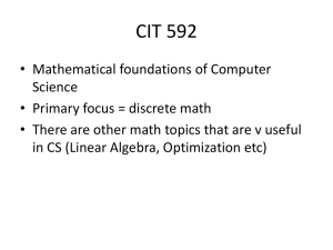 Discrete math and where is it used