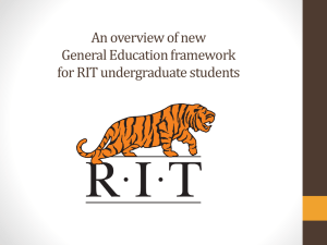 General Education Electives - Rochester Institute of Technology