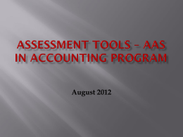 Accounting Assessment tools