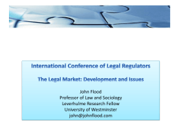 global legal market - International Conference of Legal Regulators