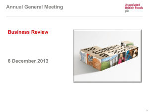 Presentation to 2013 AGM – Business Review