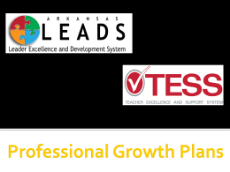Professional Growth Plans - Arkansas Department of Education