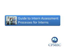 Guide to AMC Intern Assessment Processes
