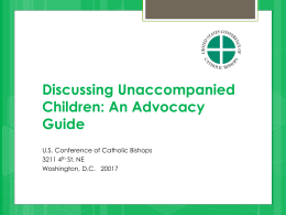 Discussing-Unaccompanied-Children-An-Advocacy