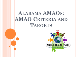 Alabama AMAOs - Alabama Department of Education