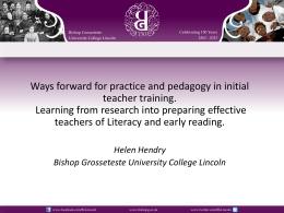 In Teachers - University of Cumbria