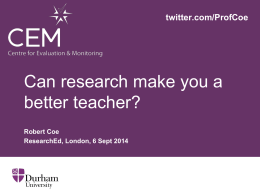 Can research make you a better teacher