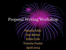 Conference Proposal Writing Workshop