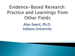 Evidence-Based Research - Association for Experiential Education
