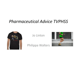 Pharmaceutical Advice TVPHSS