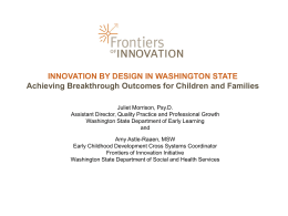 innovation by design in washington state