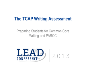 TCAP Writing Assessment Presentation