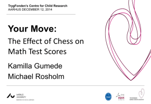 Your Move: The Effect of Chess on Math Test Scores