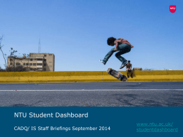 Student Dashboard briefing