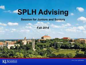 SPLH Advising - Department of Speech Language Hearing