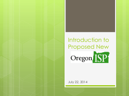 Introduction to Oregon ISP (.ppt)
