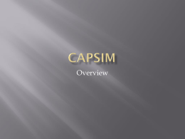 The Nature of CAPSIM