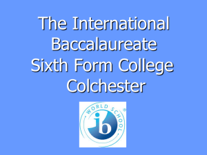 The International Baccalaureate