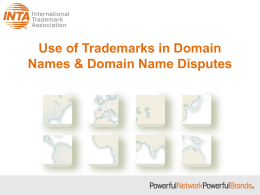 INTA PowerPoint template - International Trademark Association