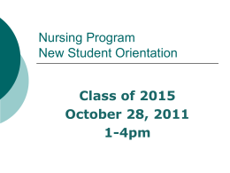 Nursing Program Open House Tea