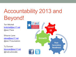 New State Accountability System