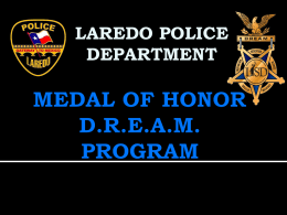 MEDAL OF HONOR Development Program