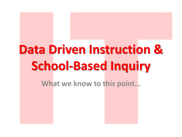 Data Driven Instruction & School