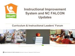 Instructional Improvement System Why