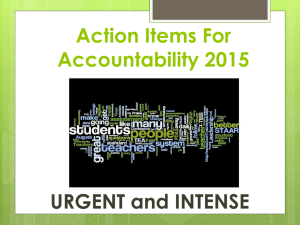 Action Items For Accountability 2015
