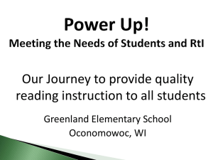 Power Up! Meeting the Needs of Students and RtI
