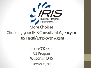 Selecting an IRIS Consultant Agency and IRIS Fiscal/Employer