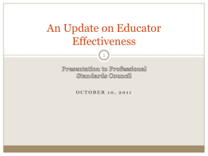 WI Educator Effectiveness Powerpoint