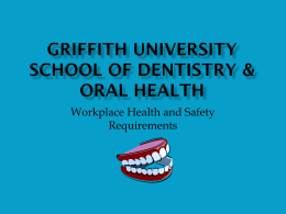 Welcome Griffith University School of Dentistry & Oral Health