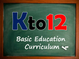 Kto12 and Senior HS - Department of Education Division of Bataan