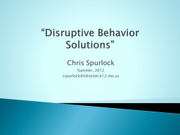 Disruptive Behavior Solutions