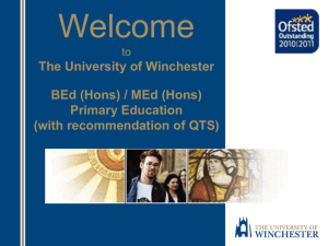 Primary Education - University of Winchester