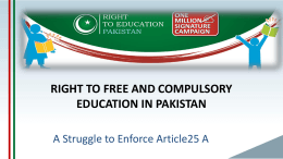 Youth Discussion 2013 (ISB) - Right To Education Pakistan