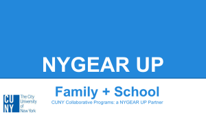 NYGEAR UP Parent Engagement - CUNY