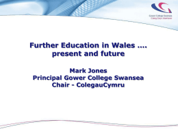 Mark Jones Presentation on FE to National Assembly