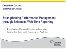 Strengthening Performance Management through Enhanced Wait
