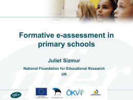 Using e-assessment for low-stakes formative purposes in primary