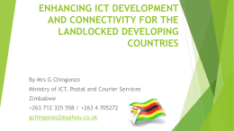 enhancing ict development and connectivity for the - UN