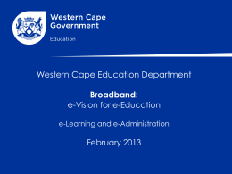 From Broadband to e-Education
