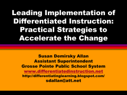Differentiation Isn*t... - Differentiated instruction, curriculum