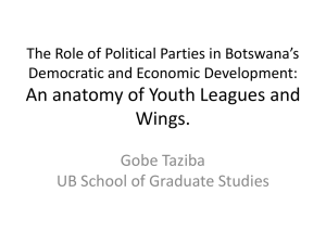The Role of Political Parties in Botswana`s - FES