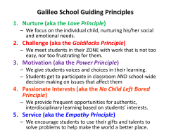 Galileo School Guiding Principles - Galileo School for Gifted Learning
