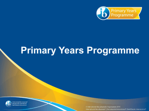 Primary Years Programme - International Baccalaureate